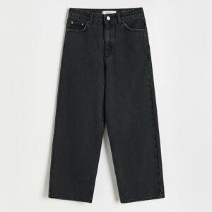 Reserved - Ladies` jeans trousers - Černý
