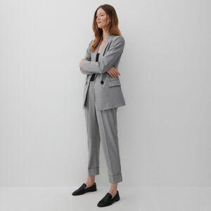 Reserved - Kalhoty s pukem - Světle šedá