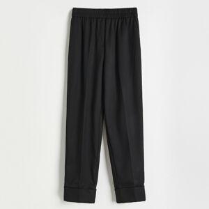 Reserved - Kalhoty s pukem - Černý
