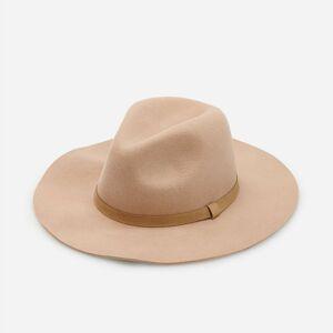 Reserved - Vlněný klobouk sozdobným páskem - Béžová