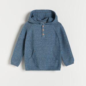 Reserved - Melanžový svetr yfl - Modrá