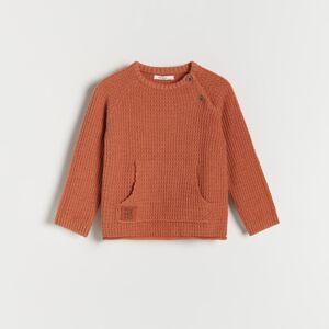Reserved - Svetr z organické bavlny - Oranžová