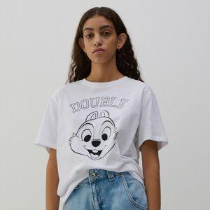 Reserved - Bavlněné tričko s potiskem - Bílá