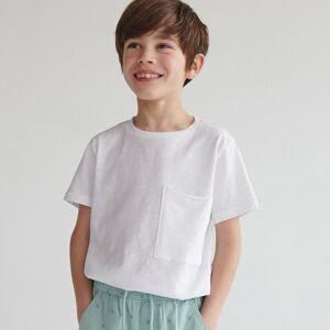 Reserved - Bavlněné tričko s kapsičkou - Bílá