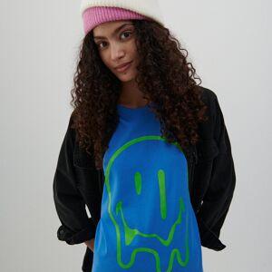 Reserved - Bavlněné tričko s potiskem - Modrá