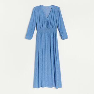 Reserved - Viskózové šaty - Modrá