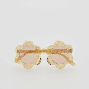 Reserved - Sluneční brýle s kovovými obroučkami - Žlutá