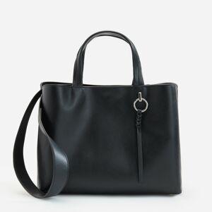 Reserved - Prostorná kabelka sdvěma oddíly - Černý