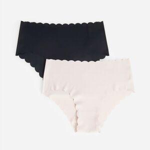 Reserved - Bezešvé kalhotky s vysokým pasem - Černý