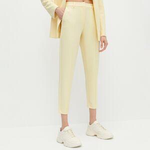 Reserved - Cigaretové kalhoty - Žlutá