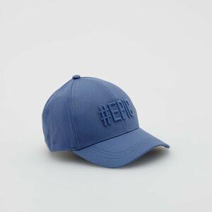 Reserved - Bavlněná kšiltovka svyšívaným nápisem - Modrá