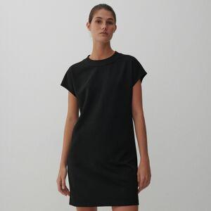 Reserved - Šaty zhladkého žerzeje - Černý