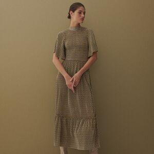 Reserved - Plisované šaty zžerzeje - Vícebarevná
