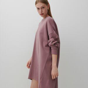 Reserved - Šaty zteplákového žerzeje - Růžová
