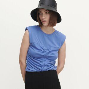 Reserved - Tričko s řasením - Modrá