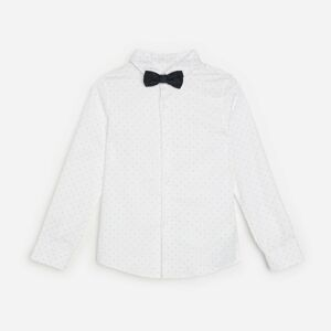 Reserved - Boys` shirt & bow tie - Bílá