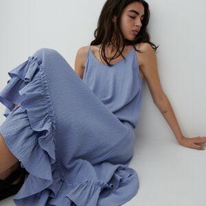 Reserved - Šaty ze strukturované látky - Modrá