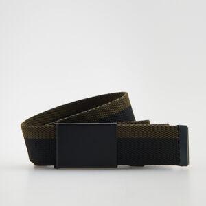 Reserved - Pásek zpopruhové tkaniny se sponou - Tyrkysová