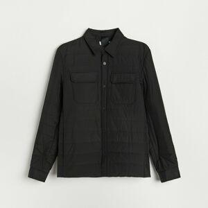 Reserved - Prošívaná bunda s kapsami - Černý
