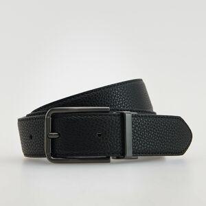 Reserved - Pásek s kovovou přezkou - Černý