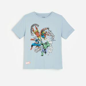 Reserved - Tričko s potiskem Marvel - Modrá