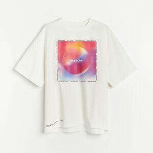 Reserved - Bavlněná košilka s potiskem - Krémová
