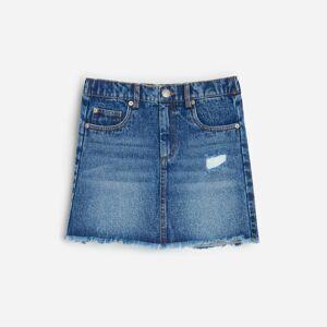 Reserved - Džínová mini sukně - Tmavomodrá