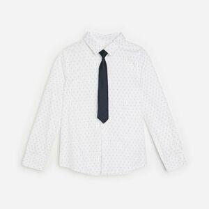 Reserved - Boys` shirt & tie - Bílá