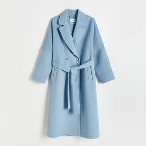 Reserved - Kabát ze směsi vlny - Modrá
