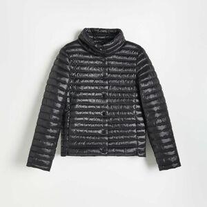 Reserved - Prošívaná bunda se stojáčkem - Černý