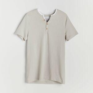 Reserved - Tričko svysokým podílem bavlny - Světle šedá