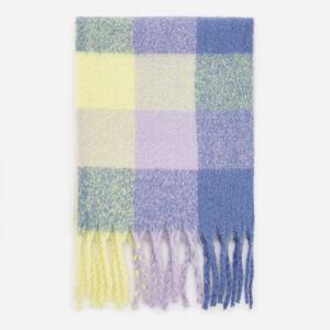Reserved - Kostkovaná šála s třásněmi - Vícebarevná