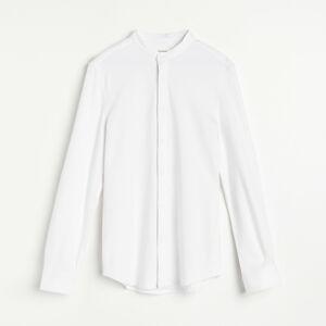 Reserved - Košile slim fit se stojáčkem - Bílá