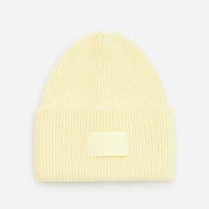 Reserved - Čepice zžebrované žerzejové pleteniny - Žlutá