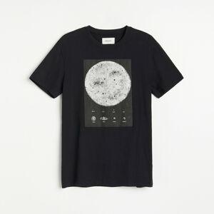 Reserved - Bavlněná košilka s potiskem - Černý