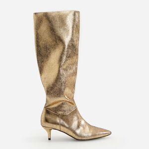 Reserved - Kozačky po kolena ve zlatém odstínu - Zlatá