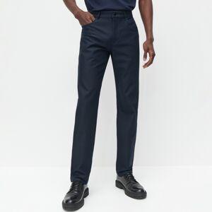 Reserved - Látkové kalhoty slim fit - Tmavomodrá