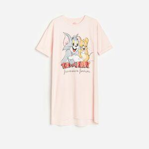 Reserved - Noční košile spotiskem Tom&Jerry - Růžová