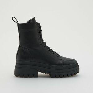 Reserved - Chelsea boty spodrážkou shrubým vzorkem - Černý