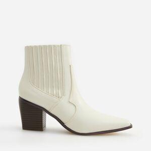 Reserved - Kovbojské kotníkové boty - Bílá