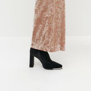 Reserved - Kotníkové boty na vysokém podpatku - Černý