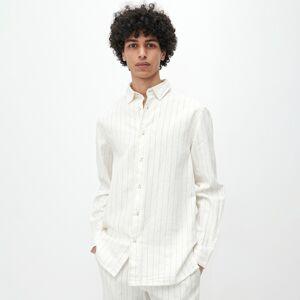 Reserved - Košile svysokým podílem bavlny apříměsí lnu - Krémová