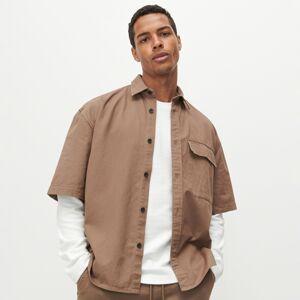 Reserved - Košile skrátkými rukávy - Hnědá