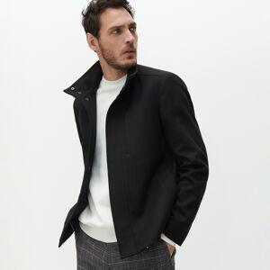 Reserved - Krátká bunda se stojáčkem - Černý