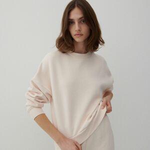 Reserved - Mikina svysokým podílem organické bavlny - Krémová