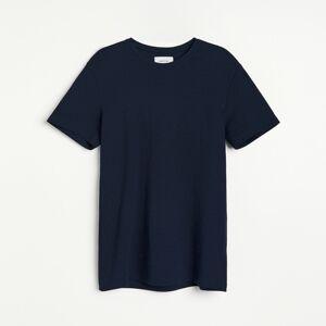 Reserved - Bavlněné tričko - Tmavomodrá