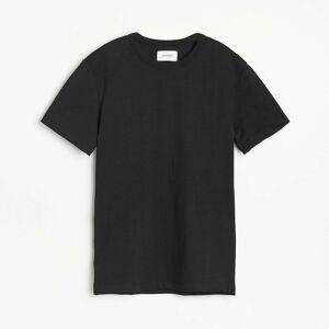 Reserved - Bavlněné tričko Basic - Černý