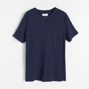 Reserved - Melanžové tričko Basic - Tmavomodrá