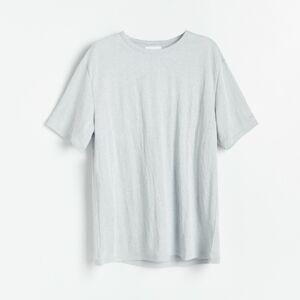 Reserved - Tričko spříměsí viskózy - Světle šedá
