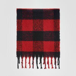 Reserved - Šála s třásněmi - Červená